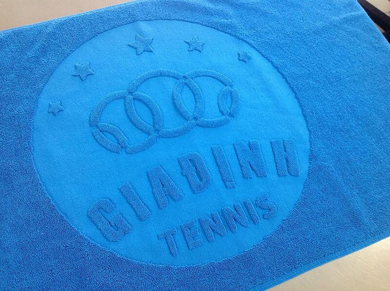 Dệt logo khăn bông Gia Định Tennis