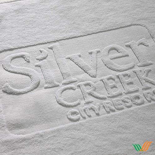 Dệt logo khăn bông Silver