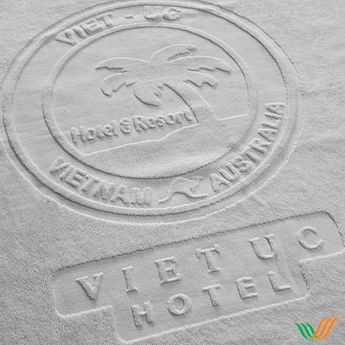 Dệt logo khăn bông Việt Úc Hotel