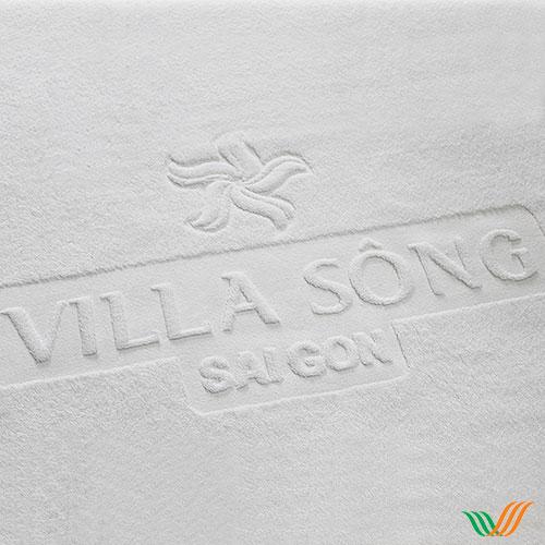 Dệt logo khăn bông Villa Sông