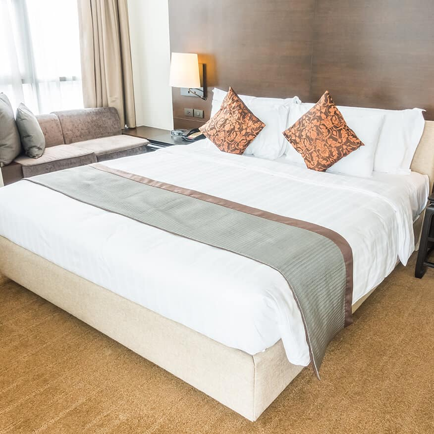 Bộ Chăn Drap Gối Khách Sạn - Tiêu Chuẩn (10cm)