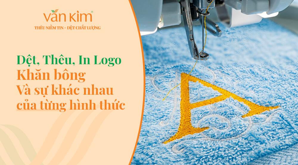 Dệt, thêu, in logo khăn bông là gì và sự khác biệt của từng hình thức